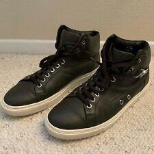 Versace Collection Men's Leather Half Medusa High Top Sneaker Shoes Brown Sz 43