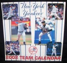 New York Yankees 2002 Team Calendar Excellent Condition