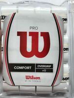 Wilson - WRZ4016WH - Tennis Pro - COMFORT - Overgrip - Pack of 12 - White