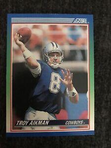 1990 Score Football Troy Aikman Rookie Card #21 Dallas Cowboys Near Mint-mint