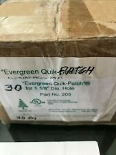 Case Of 30 Evergreen Quik Patch For 1-1/8 Dia. Hole # 205