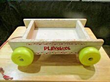Playskool Wooden Pull Toy Block Wagon (wagon Only)
