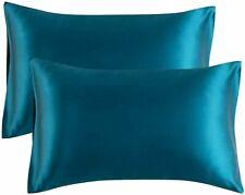 "Bedsure Satin King Pillowcase set of 2 Size 20x40"" w/ Envelope Closure"