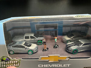 "GREENLIGHT ALL 4 RAW GREEN MACHINE'S MOTOR WORLD  ""CHEVROLET""  ULTRA RARE 1/64"