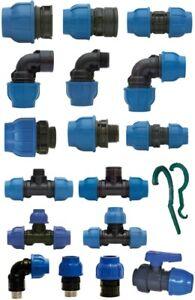 PE Rohr Kunststoff Klemmverbinder Fitting Verschraubung Trinkwasser DVGW
