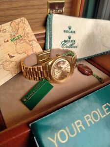 Vintage Rolex Day-Date - Pie Pan- 18k Solid Gold - 36mm - Ref 1803
