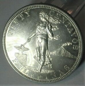 1904 US/Philippines Silver Proof 50 Centavos Only 1,355 Minted - KM# 167   (375)