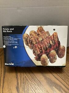 Char-Broil Rib & Potato Rack Chrome Plated Wire Item 4984786 NEW Chops Chicken