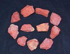 Red Jasper Rough Raw Gemstone Crystal Chunks x 10 Pieces