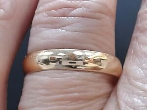 REAL 14k GOLD WEDDING RING 4mm BAND 14k YELLOW GOLD 2.4g SIZE 8.75 (GP1016585)