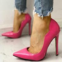 Women's Stilettos High Heels Slip On Pointy Toe Sexy Pumps Shoes Party Clubwear