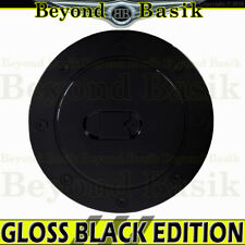 1999-2006 CHEVY SILVERADO GLOSS BLACK Fuel Gas Door Cover Cap Overlay Trim ABS