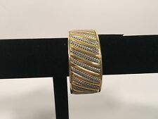 """Gold and Silver cuff bracelet 1"""" wide NWT"""