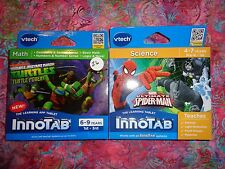 Lot 2 VTECH INNOTAB GAMES Teenage Mutant Ninja Turtles & Spiderma Lot#26