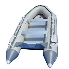 3.8m Inflatable Boat Fishing Sport Boat Raft Dinghy Yacht Tender Pooton Gray