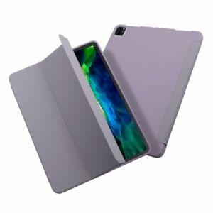 "Tablet Case for iPad Pro 11"" 2020, Liquid Silicone, Sleep/Wake, Grey Purple"