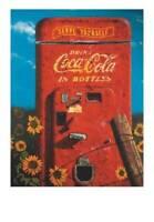 Vintage Coke Coca Cola Ad - Coca Cola Machine with Sunflowers Ad Reprint