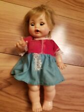 """Vintage 1964 Ideal Toy Corp Little Girl Doll 9"""" Tall BW9-4"""
