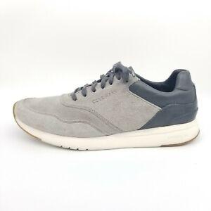 Cole Haan GrandPro Runner Shoes Men's 8.5 M Gray Sneakers Suede C27009