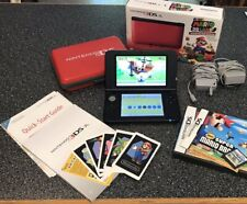 Nintendo 3DS XL Portable Gaming Console - Red and Black With Case Mario 3D Land