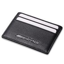 AMG Benz Slim Card Holder Genuine Leather Thin Credit ID Case Men Mini Wallet