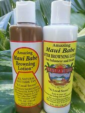 Maui Babe Browning Lotion 8oz & Maui  Babe Tan Enhancer 8oz. Fresh Brand New!!