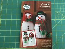 New listing Crochet Or Knit kit. Mr and Mrs Snowman Doorstops. Annie's Hook and Needle Club