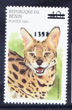 More details for benin 2000 michel 1243 1996 40fr wild cat surcharged 135fr u/m. cat 200 euros