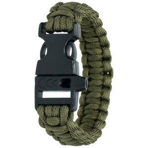 HIGHLANDER PARACORD BRACELET - SURVIVAL/CAMPING/EMERGENCY BRACELET  GREEN COLOUR