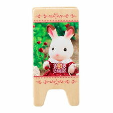 Sylvanian Families PINK MEMO CLIP WOOD HOLDER STAND Epoch Japan Calico Critters