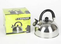 Summit Stainless Steel Whistling Kettle 2L Kitchenware Camping