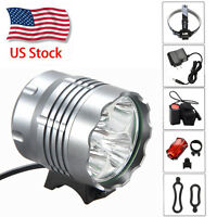 Bicycle Front Bright LED Light 50000LM 5xU2 XM-L 3 Modes Bike Headlamp Fog Light