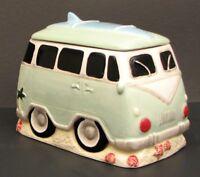 Surfer VW Van Ceramic Cookie Jar / Canister Kitchen Decor.