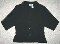 Black Dress Jacket Coat No Boundaries Womens Polyester Rayon Medium 7/9 Juniors