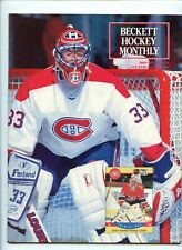 vintage beckett hockey monthly april 1991 patrick roy montreal canadians cover