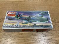 Frog 1/72 scale Grumman Avenger Mk.II F244 1973 Contents NEW and Unbuilt