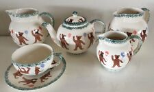 Teapot, Cup & Saucer + 3 Jugs By J & S Baughan. Teddy Bears Design Oxfordshire