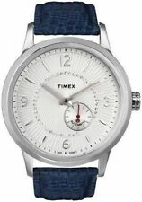 Timex Automatic Watch Blue Genuine Leather Strap 48 T2N351 retail $160