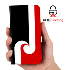 RFID Protected Maori Flag PU Leather Wallet Custom Case Cover for Apple iPhone