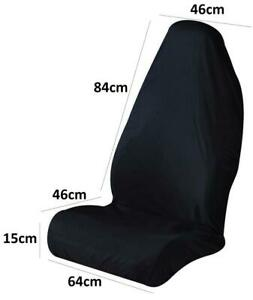 Washable Racing Style Car Seat Cover Front Protector - Black