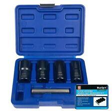 "BlueSpot 5pc Locking Wheel Nut Remover 19 - 22mm Emergency Nut Socket Set 1/2"""