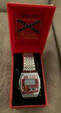 Dukes of Hazzard Vintage LCD Watch Signed Deputy ENOS 1981 General Lee RARE