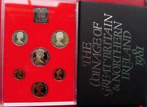 1981 Royal Mint 7 coin Proof set50p 10p 5p 2p 1p 1/2p