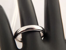 18K White Gold Men's Ring Wedding Band 4.0mm width Milligrain Edge 750