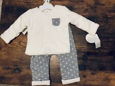 Absorba Infant 2 Piece Set Girl Boy 3-6 Month