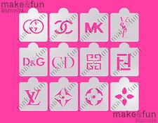 12 pcs Lv Designer stencils, Cake Stencil, Cupcake, Cookie Stencil, Schablonen