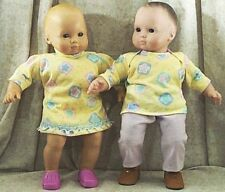 """Doll Clothes Baby Made2 Fit American Girl 15"""" Bitty Boy Twin Dress Pant Set 3Pcs"""