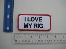 I LOVE MY RIG Trucker PATCH Hat Shirt Costume Halloween Name Punk Biker Rock