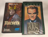 Lot 2 Midsummer Nights Dream Macbeth Rare Key (VHS) Cagney Shakespeare Clamshell