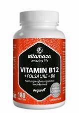 Vitamina B12 ad alto Dosaggio con Acido Folico + Vitamina B6 Metilcobalamina ...